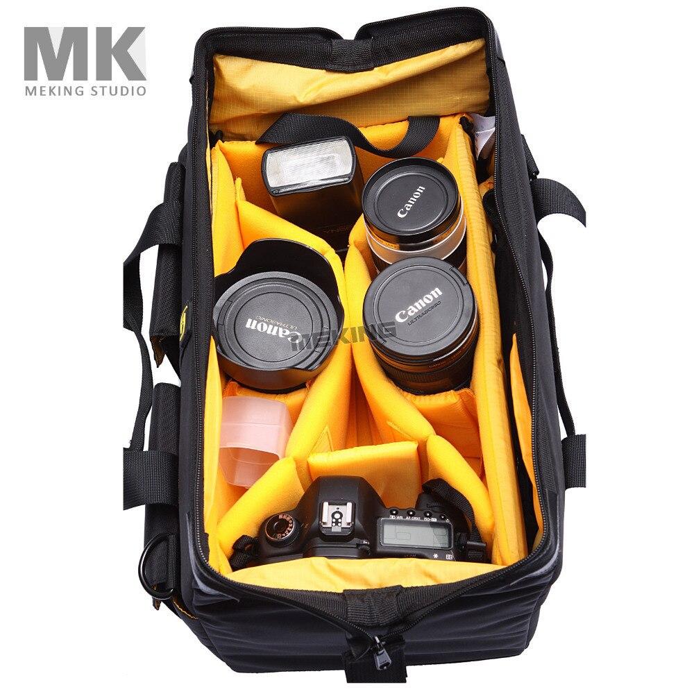 CASEPRO Camera Video Shoulder Bag Waterproof High capacity with waterproof rain coat for Canon Nikon Pendax Sony DSLR SLR Camera