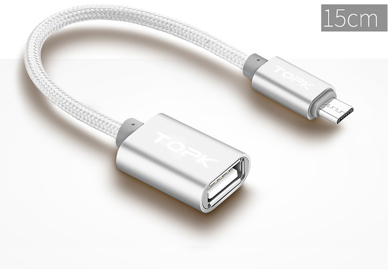TOPK Micro USB 2.0 OTG Cable And USB OTG Adapter Or Converter Android Mobile Phones 20