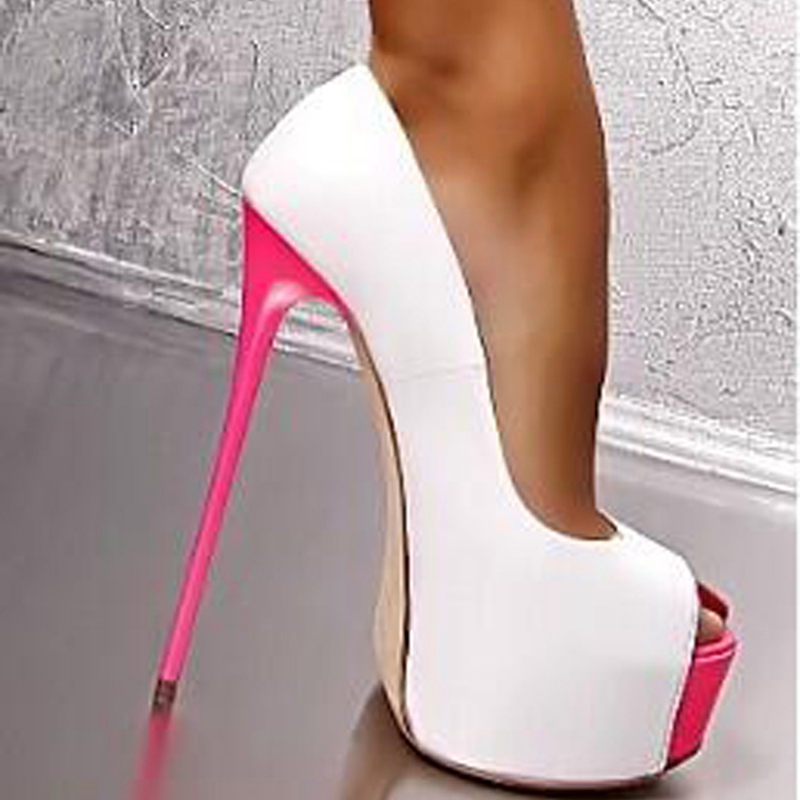 16cm Extreme High Heels Denim Style Women High Heel Pumps Platform Shoes Sexy Peep Toe Dress Party Shoes Ladies Footwear Spiral In Womens Pumps From Shoes
