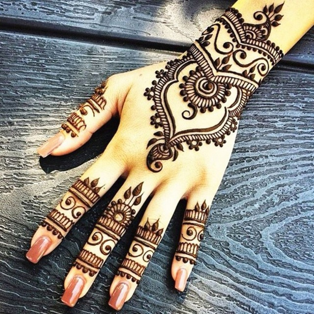 1 Piece Warna Warni India Pasta Henna Cone Kecantikan Wanita Mehndi