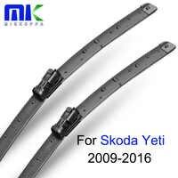 """Limpiaparabrisas de mikuppa para Skoda Yeti 2009-2016 par 24 """"+ 19"""" parabrisas limpiaparabrisas Auto accesorios de coche"""