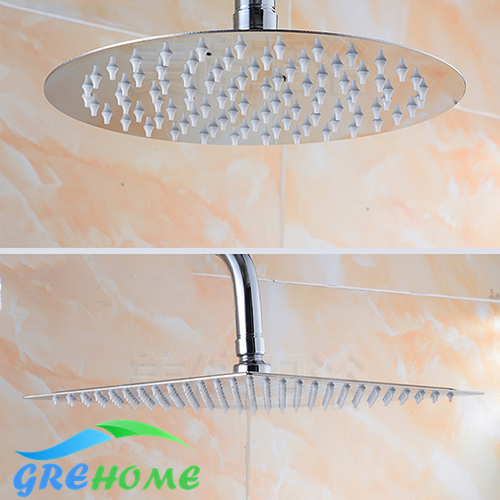 6 Inch/8 Inch/10 Inch Shower Head Square And Round 304 Stainless Steel  Ultra Thin Shower Heads Rainfall Shower Head Rain Shower In Shower Heads  From Home ...