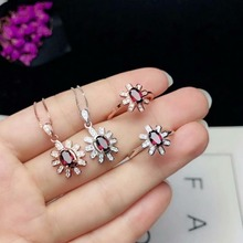 hot deal buy 925 sterling silver natural magnalium garent jewelry sets rings pendantssend ne fine new women  wholesale yhtz040601agsm