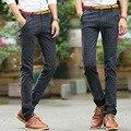 2016 Nova Versão Coreana dos homens de Inverno Além de Veludo Calças Masculinas Calças compridas Calças de Algodão dos homens de Negócios Britânico Xadrez Calça Casual
