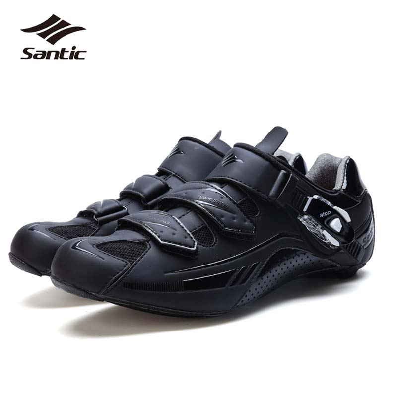 все цены на SANTIC Cycling Shoes Men Ultralight Carbon Fiber Soles Road Bike Shoes Bicycle Shoes Self-Locking Sneakers Sapatilha Ciclismo онлайн