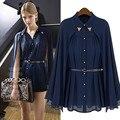 New Design Mulheres de Verão Camisa Chiffon Estilo Quimono Cardigan Plus Size Blusa Feminina Mulheres Topos