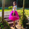 6 Layers Hot Pink Midi Tutu Tulle Skirts Womens American Apparel High Waist Ladies Skirt  2016 Summer Faldas Jupe Saia