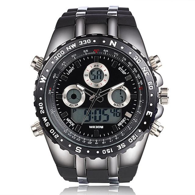 2016 Relojes de los hombres relojes deportivos militar reloj hombre de Buceo Pantalla Digital LED hombre reloj de cuarzo reloj de los hombres relogio masculino