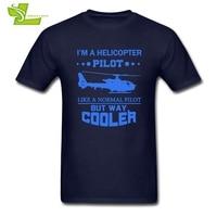 Io sono Un Elicottero Pilot Uomo T Shirt Casual Esercizio Allentato T-Shirt Da Uomo Estate Girocollo Tees Vestiti Adolescenti Elicottero