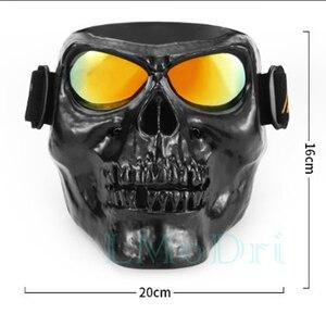 Image 2 - LMoDri Motorcycle Goggles Helmet Mask Outdoor Riding Motocross Skulls Windproof Wind Glasses Sandproof Goggle Kinight Equipment