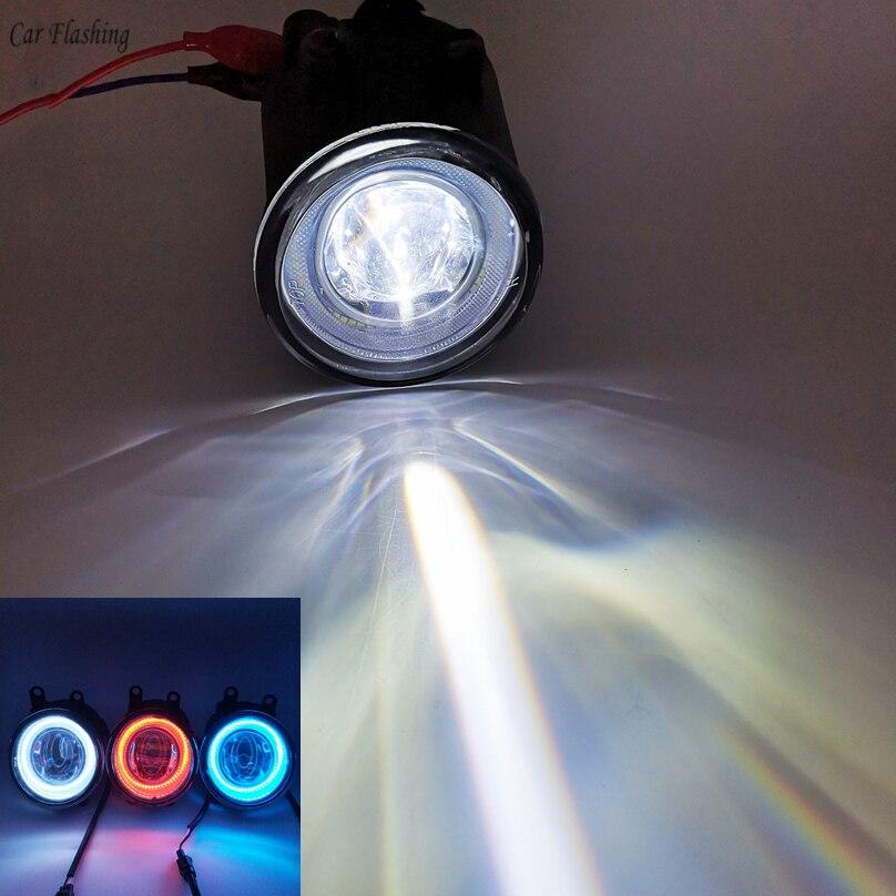 2pcs DRL LED Angel Eyes Fog Light Lamp For Toyota Corolla Camry Yaris RAV4 for Lexus