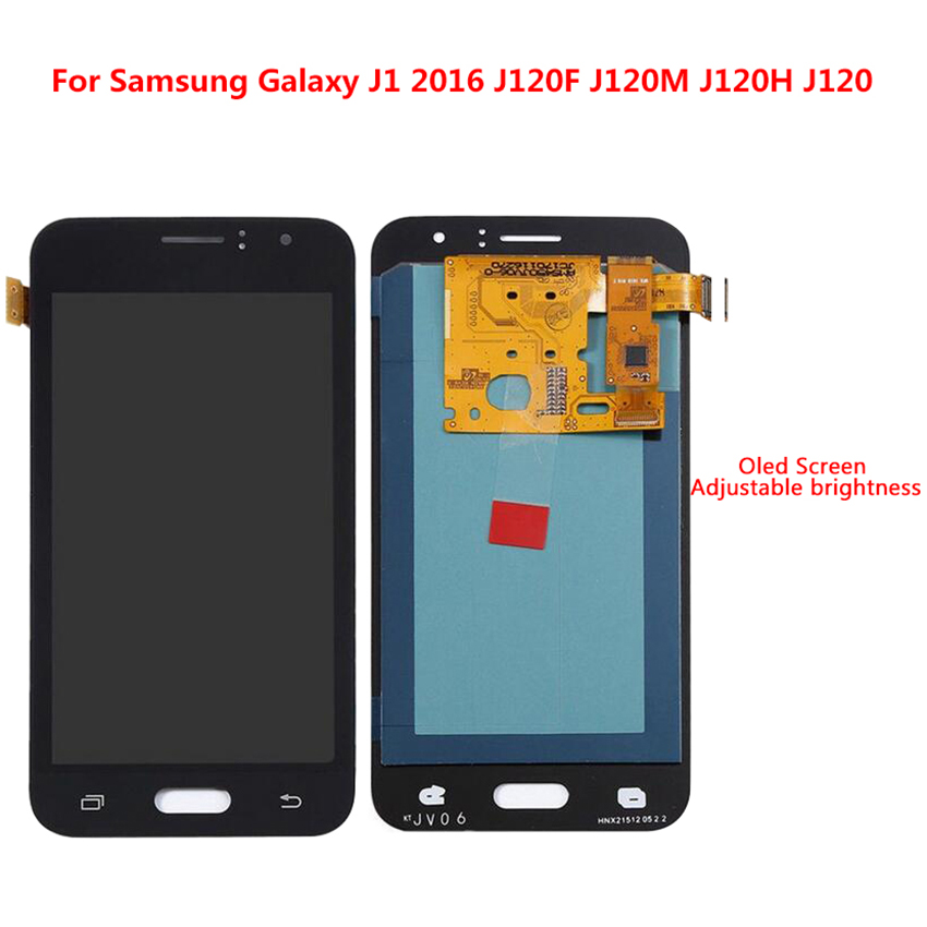 Super AMOLED LCD pour Samsung Galaxy J120 2016 J120F J120H J120M LCD affichage écran tactile numériseur assemblée autocollant remplacement