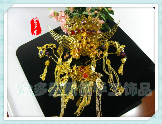 The bride hair accessory set classical hair stick set coronet costume hair accessory hanfu accessories cos accessories