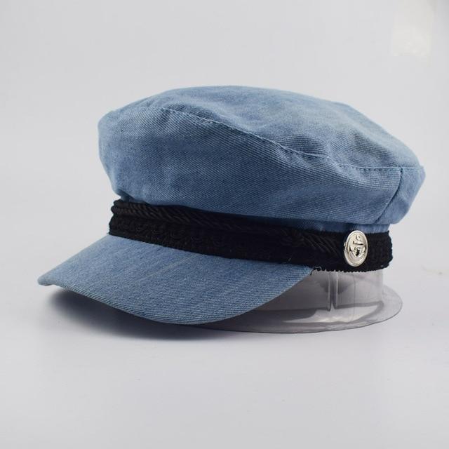 a305cfce4dd Fashion Berets Denim Beret hat for women Casual cap Hat Female solid  Vintage Hats New Berets Caps Flat Cap street style hats