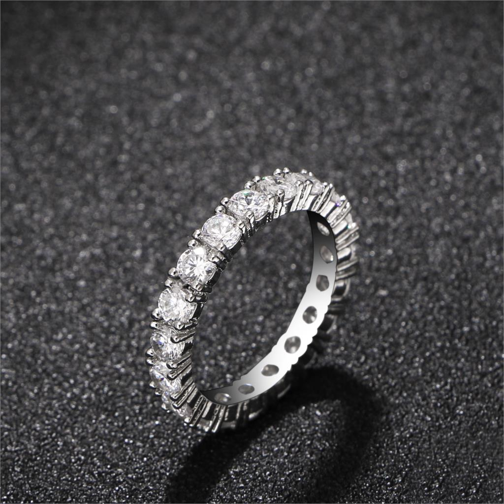New Fashion Silver Color Zircon Rings For Women High Quality Women Wedding Rings Jewelry Girlfriend Gift Hot Sale 4