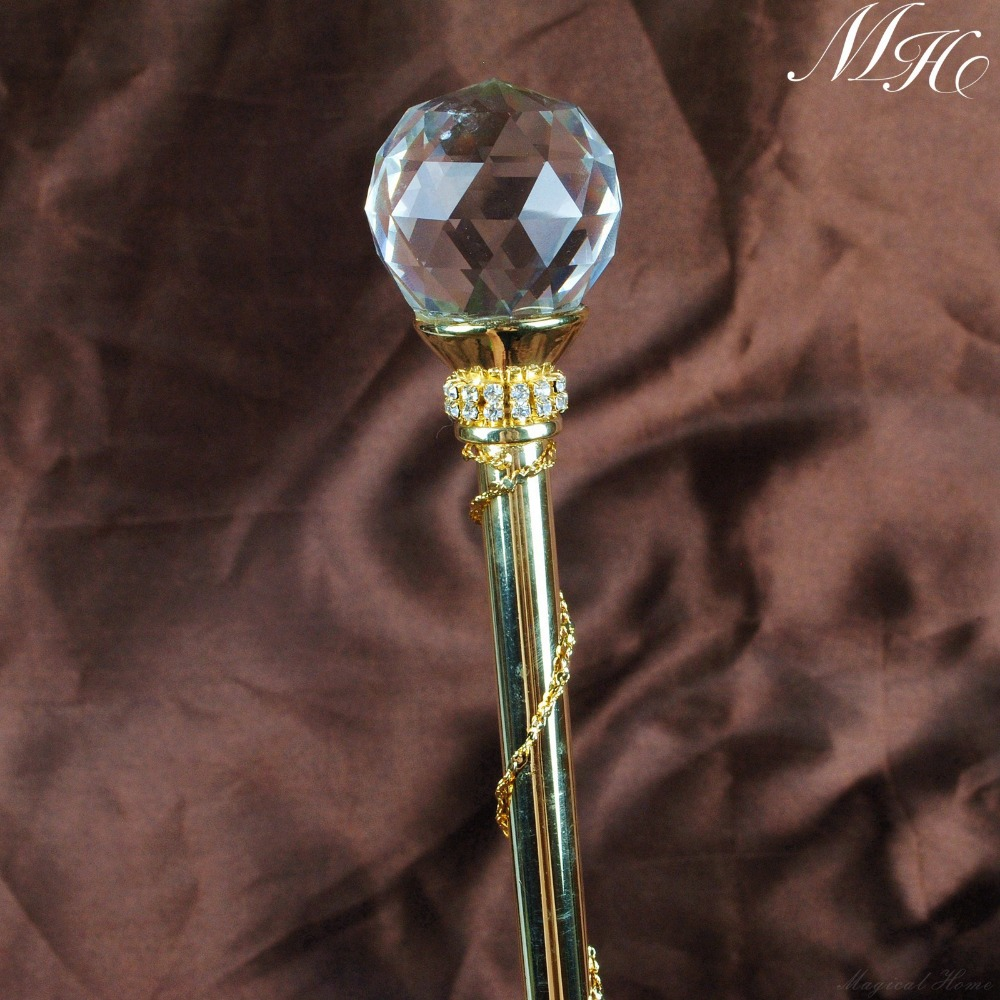 Gold Heart Metal Wand Wedding Prom Accessory