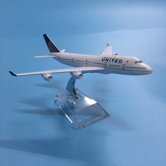 American Air United Airlines Boeing 747 B747 400 Airways 16cm Alloy Metal Plane Model Aircraft Airplane Model w Stand Gift 3