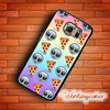 Fundas Pizza Emoji Cool Design Case For Samsung Galaxy S7 S6 S5 S4 S3 Edge Plus