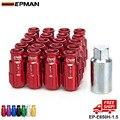 EPMAN RACING RS FORJADO TIPO ALUMINIO LOCK TUERCAS 12X1.5 20 UNIDS/SET EP-E650H-1.5-FS