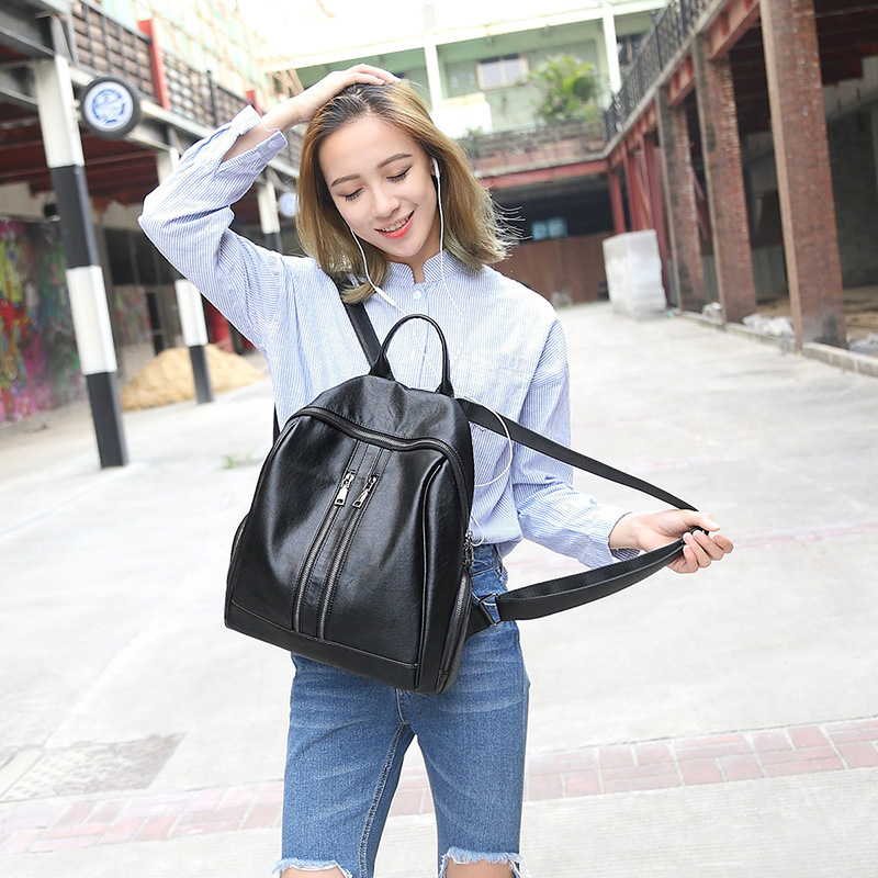 100 Genuine leather Women Backpacks leather Backpacks student bags For Teenagers Girls Female Travel Back Pack