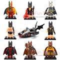 2017 Nuevo 8 unids DC Super Heroes Marvel Wolverine Rainbow Zebra Bikini Batman cabo Bat Personalizada película Minifigs Bloque de Construcción juguete