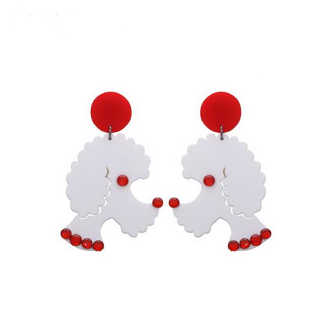 Fashion Large Acrylic Dog Shaped Earrings