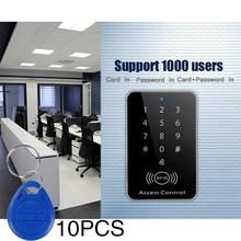 12V Door RFID Card Password Access Controller with Keypad +10 Key Fobs