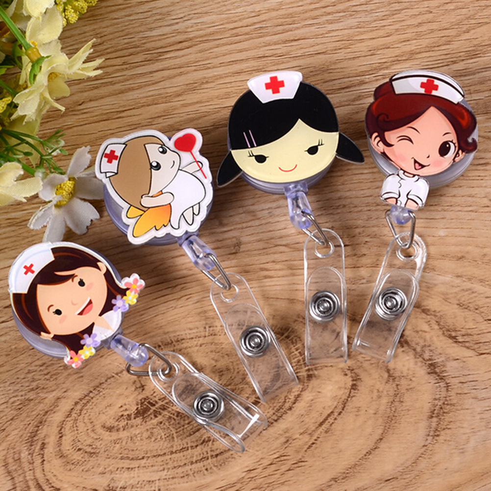 Office & School Supplies Cute Retractable Badge Holder Reel Student Nurse Exhibition Id Enfermera Name Card Badge Holder Office Stationery Supply Labels, Indexes & Stamps