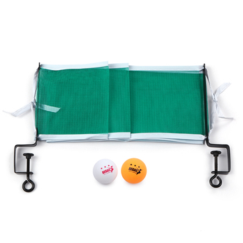Table Tennis Set High Quality Table Tennis Net with 2 Ping Pong Balls and Posts Portable Mesh Net Replace Kit For Ping Pong Play фото