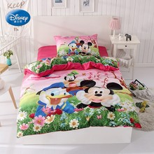 Mickey Minnie Mouse and Donald Duck Duvet Cover Set Twin Single Size for Children Boys Girls