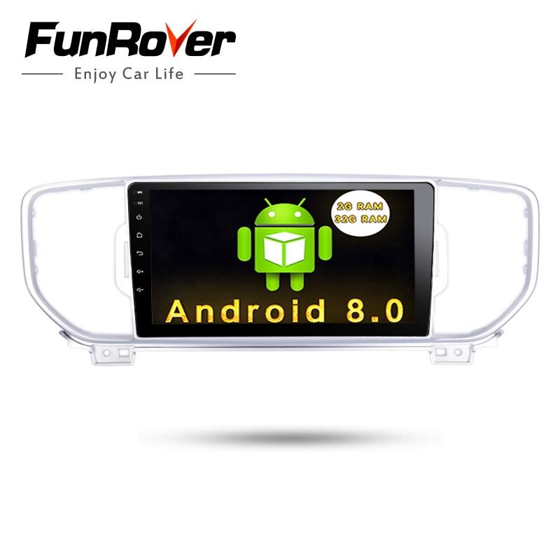 Funrover 2G+32G Android 8.0 2 din Car dvd Player gps dvd for KIA KX5 kx5 2016 2017 usb navi wifi car radio tape recorder stereo funrover ips 8 2 din android 8 0 car dvd player for kia sportage 2016 2017 kx5 gps navigation car stereo headunit wifi bt navi