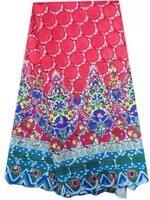 2017 yeni varış Ile Asya Sıcak Satış Polyester Dantel Kumaş fransız Moda Akşam Bayanlar Elbise Için Renkli Desen