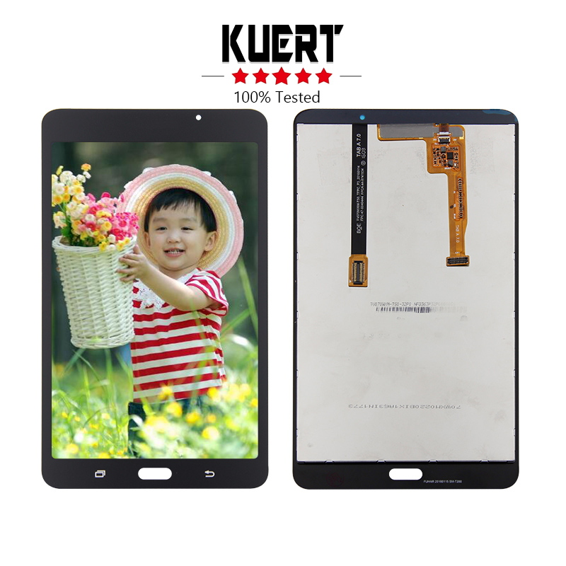 Free Shipping For Samsung Galaxy Tab A 7.0 2016 SM-T280 T280 Touch Screen Digitizer Glass Lcd Display assembly Replacement 10pcs for s6 edge lcd display touch screen digitizer assembly for samsung s 6white free dhl shipping