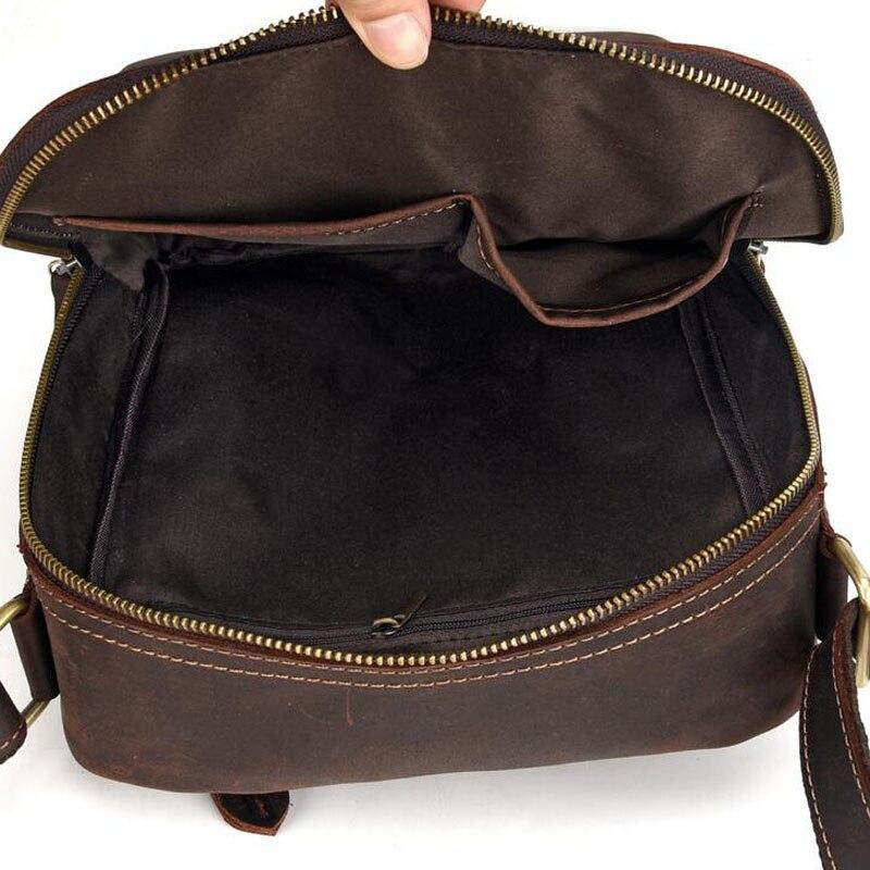 Для мужчин Винтаж Crazy Horse коровьей сумки через плечо мессенджер портфели бренд тренд вертикальный высокое качество Слинг Сумка - 4