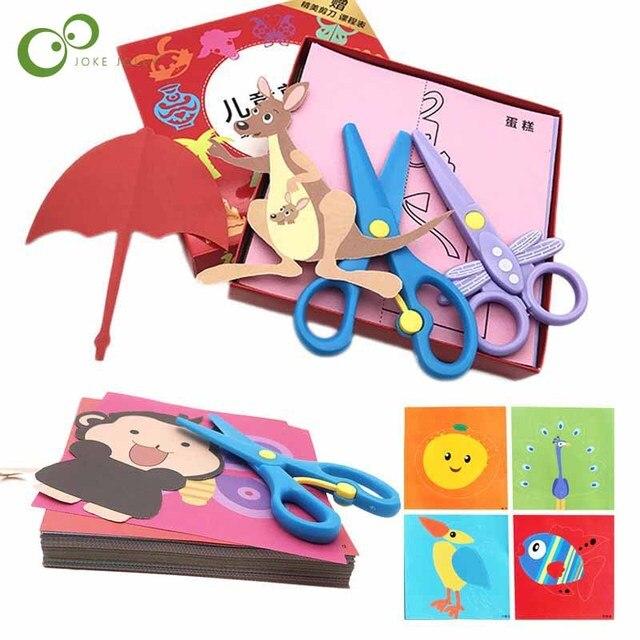 96 arkuszy ręcznie robiony papier cięty książka papier typu kraft dzieci DIY Handmade książka papier do scrapbookingu zabawki dla dzieci zabawki edukacyjne WYQ