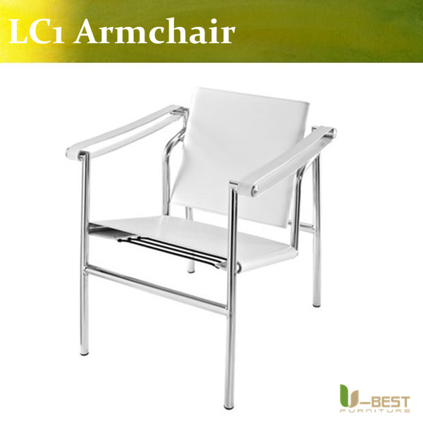 U-BEST Stainless steel frame basculant chair LC1 living room lounge chair u best high quality reproduction basculant chair lc1 chair famous classic replica furniture