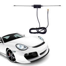 Car Digital 12V TV FM Antenna Aerials 5ft In Car Radio Signal Amplifier DVB-T ISDB-T 6dBi 88-108MHZ(China)