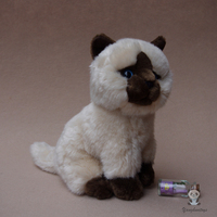 Cute Siamese Cat Plush Doll Toys Simulation Stuffed Animal kids Toys Cats Dolls Gifts Female
