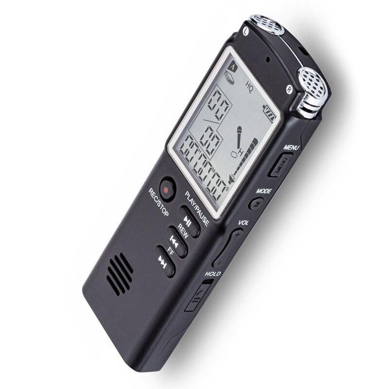 16 GB Original USB Grabadora de Voz Profesional 96 Horas de Audio Digital Grabadora de Voz Del Dictáfono WAV, Reproductor de MP3