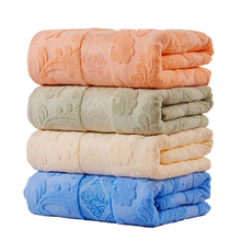 Soft Warm Cotton Blanket Japan Style Adult Full Queen Size Floral Pattern Jacquard Summer Towel Blankets On The Bed