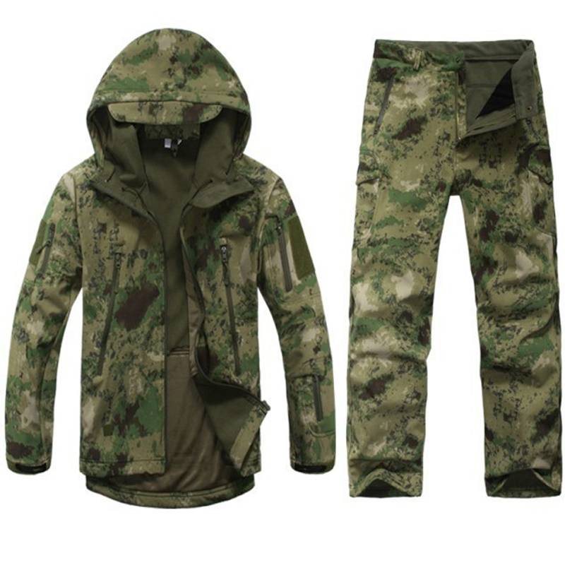 ФОТО Men's suits US military ACU Army cotton polyester men's multi-color optional camouflage uniforms tactical battle uniforms 1 set