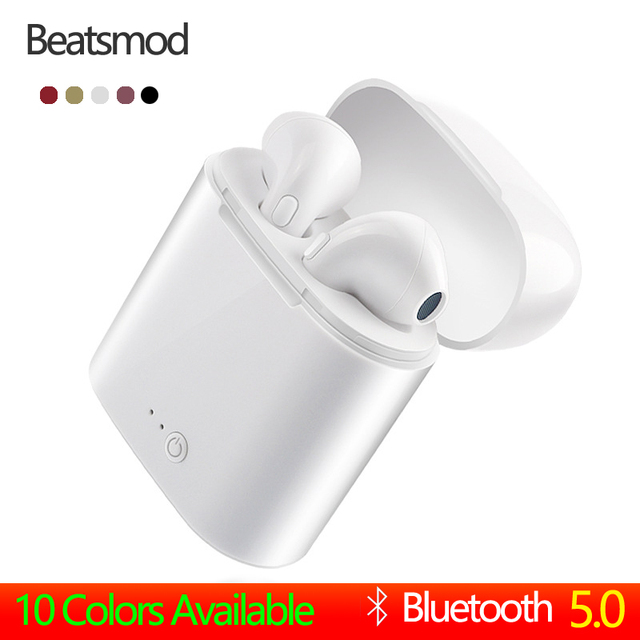 Beatsmod i7s tws Upgrade Wireless Bluetooth Earphones headset Stereo Earbud headphones With Charging Box for Smart Phone pk i10