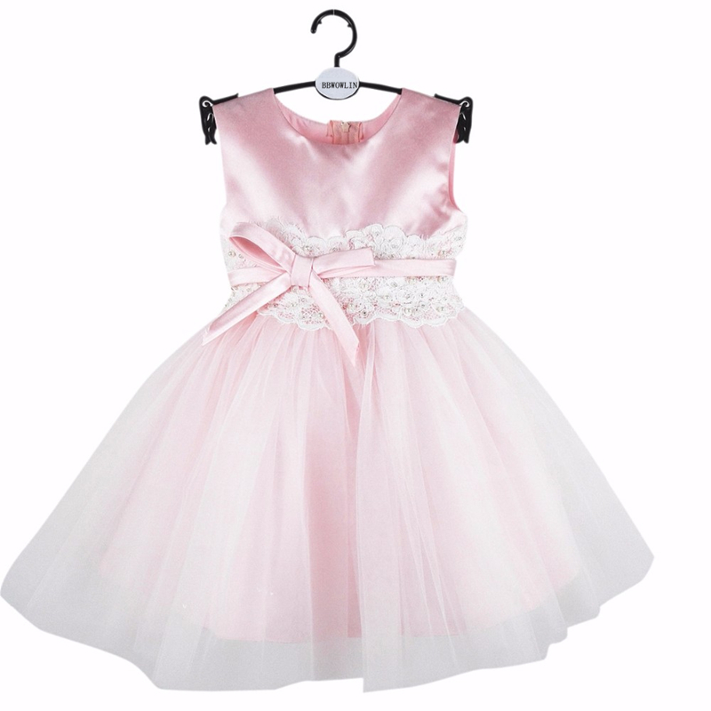BBWOWLIN Pink Baby Girls Christmas Dress for 0 - 6 Years Toddler Girl Clothes Birthday Party Costumes Flower Girl Dresses  8070 baby wow baby clothes girl dresses for 1 year birthday christmas first communion dresses for toddler clothes 80187