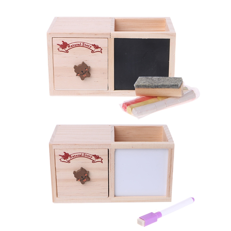 Desktop Sundries Storage Box With Message Board Pen Case Holder Makeup Organizer W15