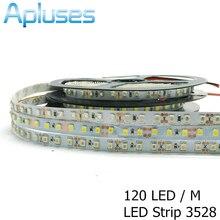 120LED/M 3528/2835 LED Strip 12V Flexible Decoration Lighting IP65 Waterproof LED Tape White/Warm White/Blue/Green/Red