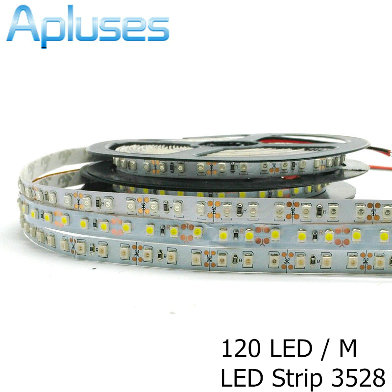 120LED / M 3528/2835 Tira LED 12V Decoración flexible Iluminación IP65 Cinta LED impermeable Blanco / Blanco cálido / Azul / Verde / Rojo