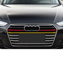 Lsrtw2017 Abs Car Front Grill Middle Net Strip Trims for Audi A4 A3 Q3 Q5