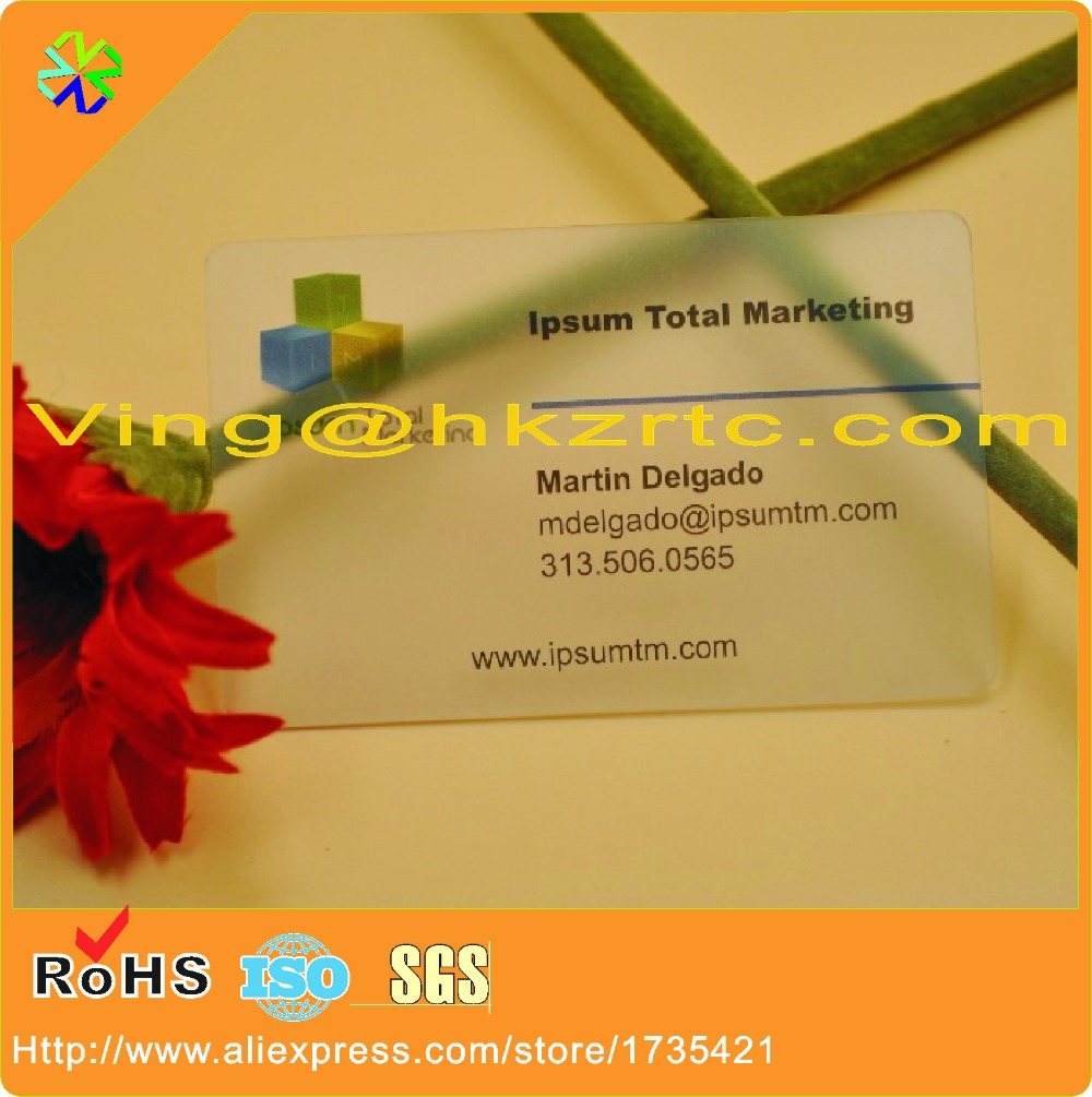 2017 hot sale pvc material transparent printed plastic business card embership card,transparent frosted membership card