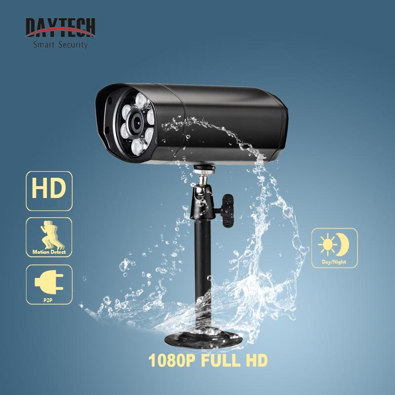 DAYTECH HD 1080P Bullet IP Camera Home surveillance Security CCTV Camera IR Night Vision Network Monitor Waterproof IP66 outdoor экшен камера bullet hd