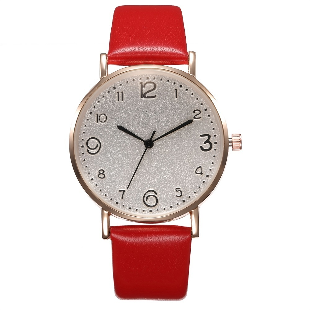 Relógio Feminino com Pulseira de Couro Quartz Analógico 11